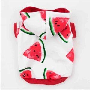 Watermelon dog hoodie